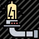 lamp, lightbulb, halogen, tungsten, illuminate icon