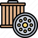 purify, clean, filter, engine, oil icon