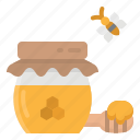 bee, honey, jar, pot, sweet icon