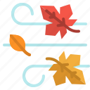 wind, leaf, leave, windy, autumn