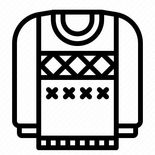 cloth, clothing, garment, jersey, sweater icon