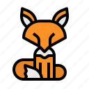 animal, fox, mammal, wildlife, zoo icon