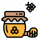 bee, honey, jar, pot, sweet