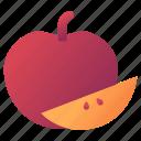 apples, autumn, fruit icon