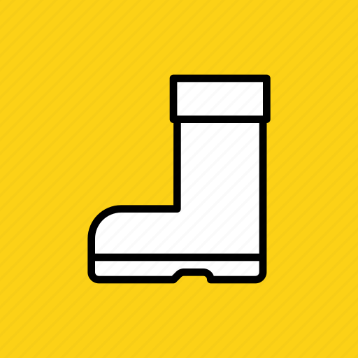 autumn, boot, footwear, rainy, rubber, shoe, winter icon