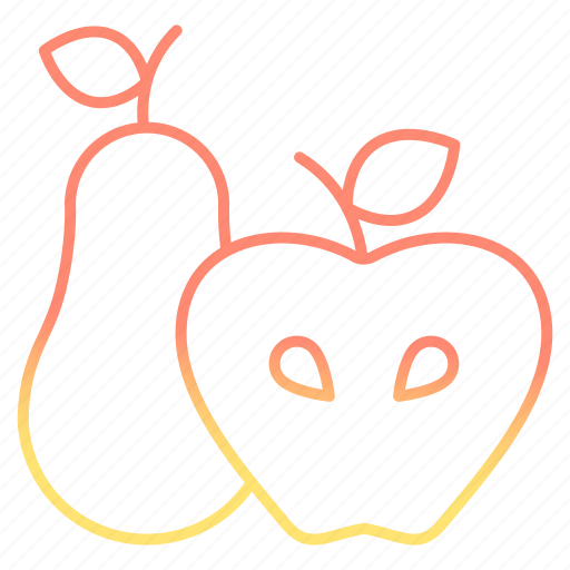 appel, fruit, pear, produce, spring icon
