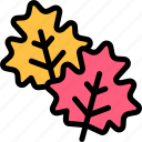 autumn, fall, leaves, nature, season, weather icon
