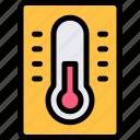 autumn, fall, nature, season, thermometer, weather icon
