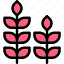 autumn, fall, grass, nature, red, season, weather icon