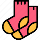 autumn, fall, nature, season, socks, weather icon