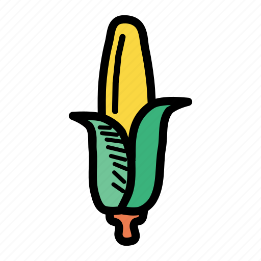 American, corn, food, grain, maize, staple, sweet icon - Download on Iconfinder