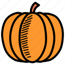 autumn, fruit, halloween, harvest, pumpkin, thanksgiving, vegetable icon