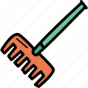 agriculture, farming, garden, gardening, rake, tool