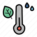 autumn, fall, humidity, measure, rain, temperature, thermometer icon