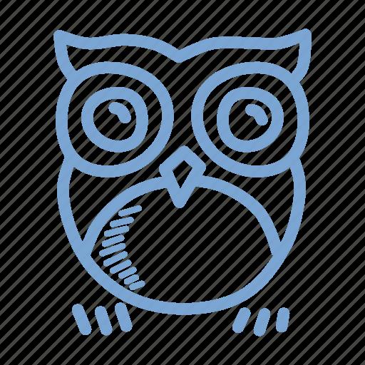 bird, halloween, horror, night, nocturnal, omen, owl icon