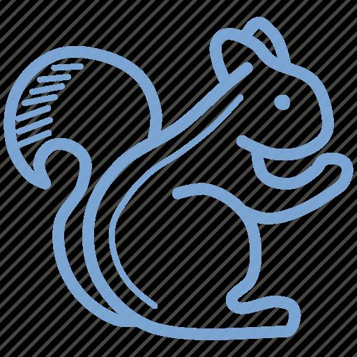 animal, autumn, squirrel icon