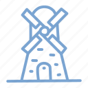 electricity, energy, turbine, wind, windmill icon