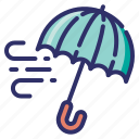 umbrella, season, freezing, autumn, fall, wind, weather icon