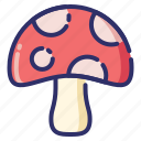 mushroom, nature, season, autumn, fall, vegetable icon