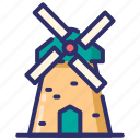 autumn, estate, farm, windmill icon