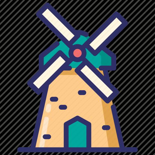 autumn, estate, farm, windmill icon