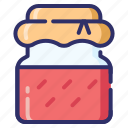 season, jar, jelly, autumn, strawberry, jam, fall icon