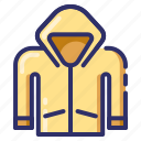 autumn, protect, raincoat, season, slicker, jacket, fall icon