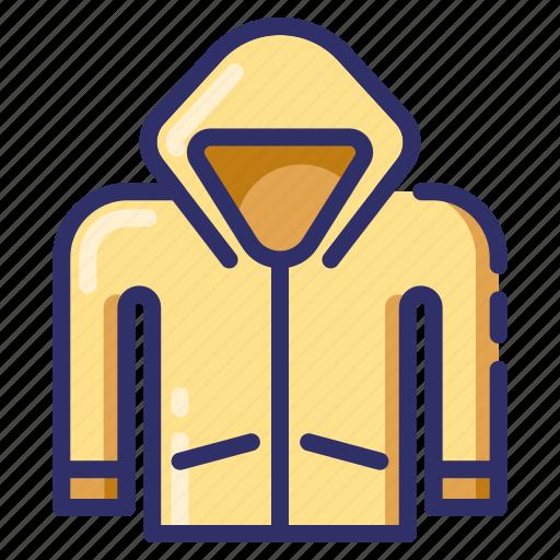 autumn, fall, jacket, protect, raincoat, season, slicker icon