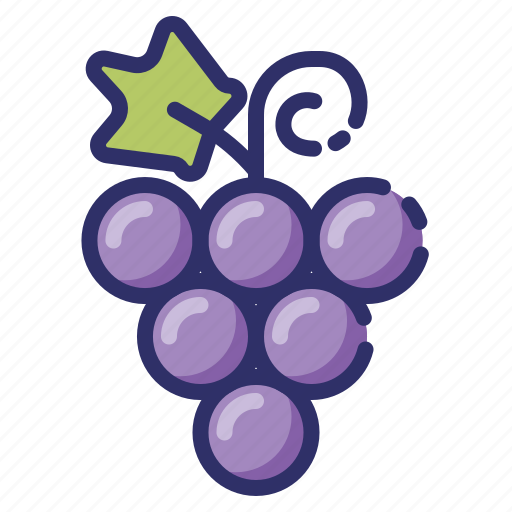 autumn, berry, fruit, grape, leaf, nature, vines icon