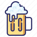 autumn, octoberfest, beer, drink, alcohol, foam icon