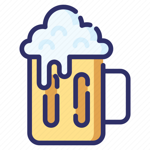 alcohol, autumn, beer, drink, foam, octoberfest icon