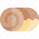 autumn, cake, fall, roll, season, weather icon
