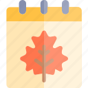 autumn, calendar, fall, nature, season, weather icon