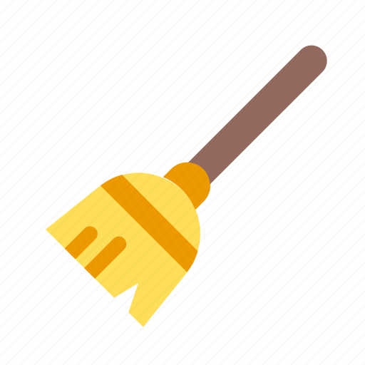 autumn, broom, clean, cleaning, fall icon