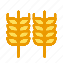 autumn, cereal, fall, harvest, wheat, wheat grain, wheatcrop icon