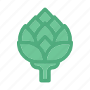artichoke, autumn, cultivated thistle, fall, food, plant, vegetable icon
