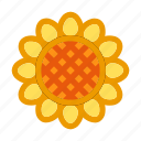 autumn, fall, floral, flower, sun flower icon