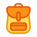 autumn, bagpack, fall, holiday, knapsack, rucksack, school bag icon