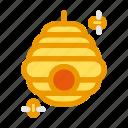 autumn, bee, fall, hive, hivebee, honey icon