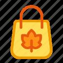 autumn, bag, fall, shop, shopping bag icon