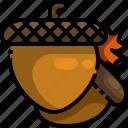 acorn, autumn, food, oak, squirrel icon