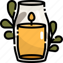 burner, candle, oil, relax, spa icon