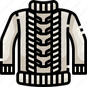 clothes, garment, jersey, shirt, sweater icon