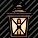 candle, illumination, lamp, lantern, light, oil icon