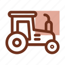 agriculture, autumn, fall, farm, farming, harvest, tractor icon
