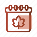 autumn, calendar, date, event, fall, mouth, schedule icon