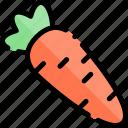 autumn, carrot, fall, season, weather icon
