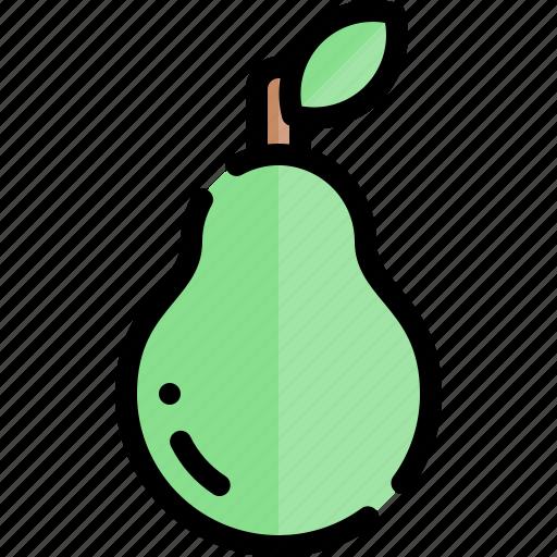autumn, avocado, fall, season, weather icon