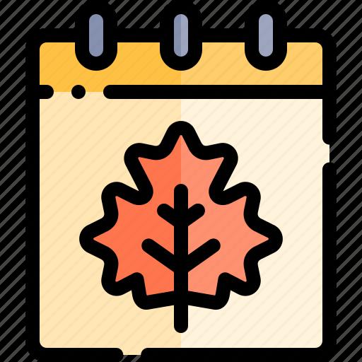 autumn, calendar, fall, nature, season, weather icon