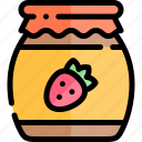 autumn, fall, jam, nature, season, weather icon